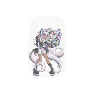 Stickers Pour Ongles Fille de Kitsune de Cyber