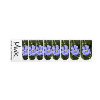 Stickers Pour Ongles Fleur sauvage assez bleu