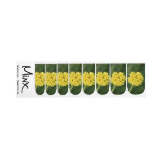 Stickers Pour Ongles Fleurs sauvages jaunes minuscules