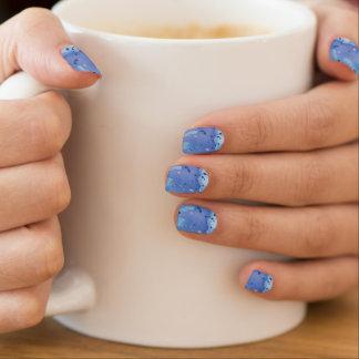 Stickers Pour Ongles Floc pour aquarelle bleu