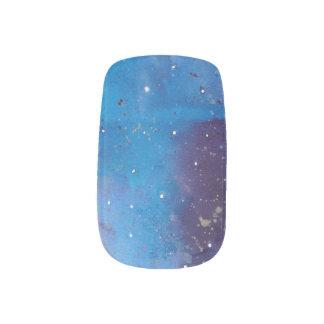 Stickers Pour Ongles Galaxie bleu-foncé