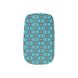 Stickers Pour Ongles Jolis blanc, noir et motif carrés de turquoise