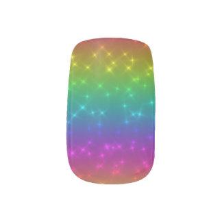 Stickers Pour Ongles L'arc-en-ciel lumineux miroite art de clou
