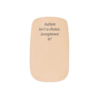 Stickers Pour Ongles L'autisme n'est pas des clous d'un minx de choix
