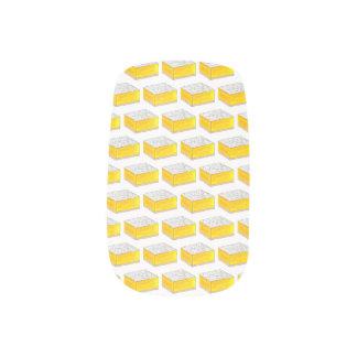 Stickers Pour Ongles Le dessert de pâtisserie de barre carrée de citron