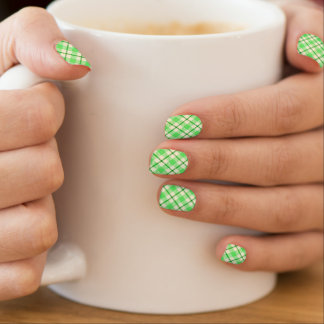Stickers Pour Ongles Le jour de St Patrick de tartan de plaid