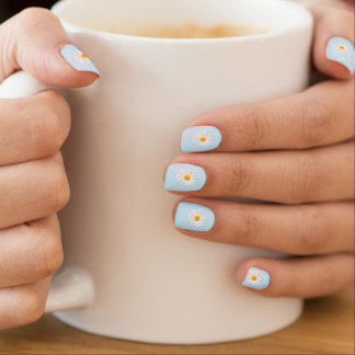 Stickers Pour Ongles marguerite blanche