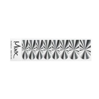 Stickers Pour Ongles Minx métallique de Starburst de chrome foncé