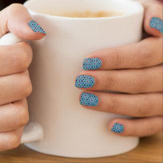 Stickers Pour Ongles Motif abstrait dans bleu et gris