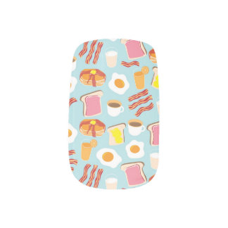 Stickers Pour Ongles Motif d'illustrations de nourriture de petit