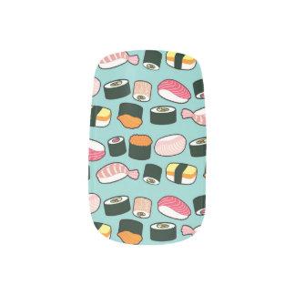 Stickers Pour Ongles Motif illustré par amusement délicieux de sushi