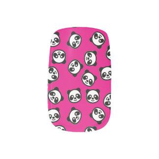 Stickers Pour Ongles Motif noir et blanc de bande dessinée de panda