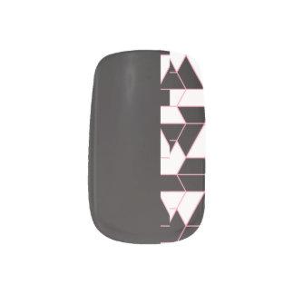 Stickers Pour Ongles Noir abstrait - motif minimal