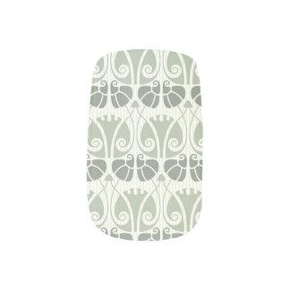 Stickers Pour Ongles Nouveau d'art, sarcelle d'hiver, beige, floral,