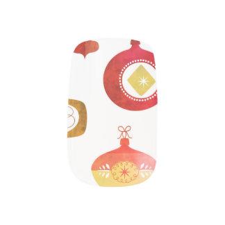 Stickers Pour Ongles Ornements rouges audacieux de Waterclor