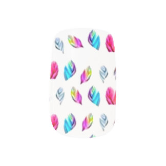 Stickers Pour Ongles Plumes multicolores