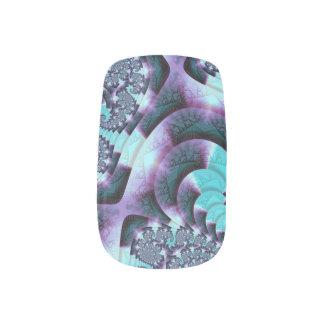 """Stickers Pour Ongles """"S tourbillonne"""" art fait sur commande de fractale"""