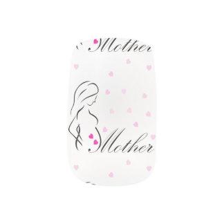 Stickers Pour Ongles Une future mère enceinte avec les coeurs roses