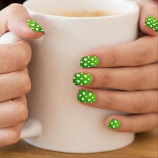 Stickers Pour Ongles Vert et motif de shamrock