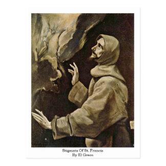 Stigmates de St Francis par El Greco Cartes Postales
