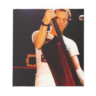 Sting jouant le violoncelle blocs notes