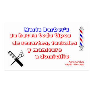stock-vector-barber-shop-pole-32983312, barber,… carte de visite standard