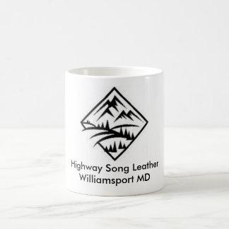 Stockez le logo mug blanc