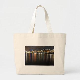 Stockholm, Suède la nuit Grand Tote Bag