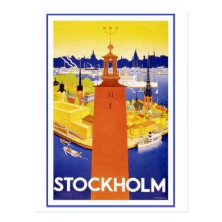 Stockholm vintage Suède Cartes Postales