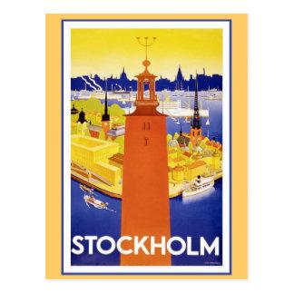 Stockholm vintage Suède Carte Postale