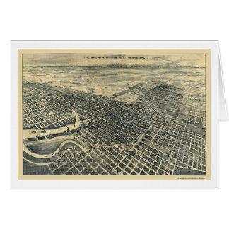 Stockton, carte panoramique de CA - 1895