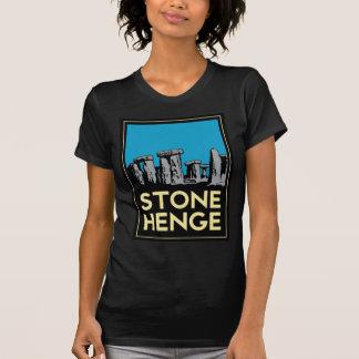 Stonehenge art deco travel poster tshirt