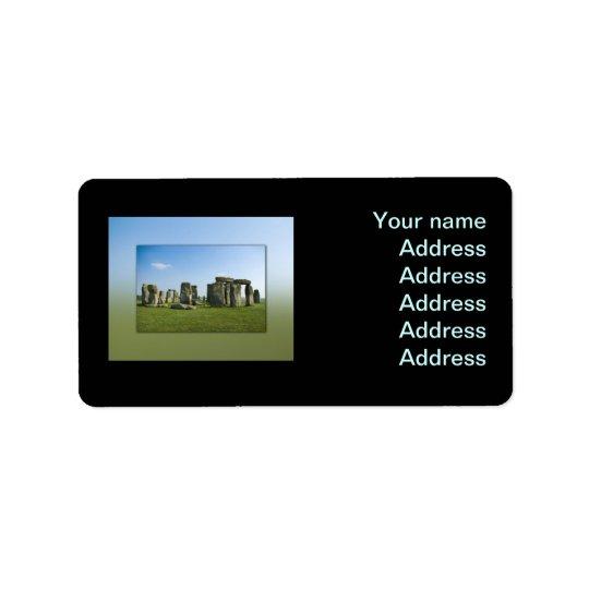 Stonehenge Étiquettes D'adresse