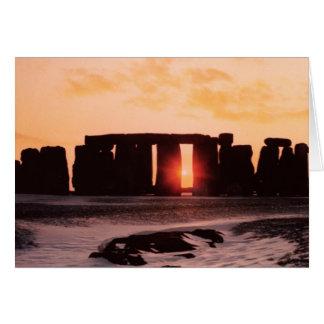 Stonehenge, solstice d'hiver carte de vœux