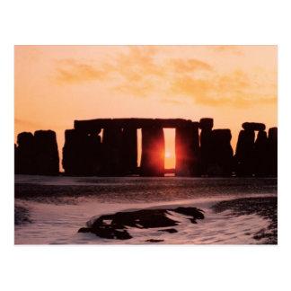 Stonehenge, solstice d'hiver carte postale