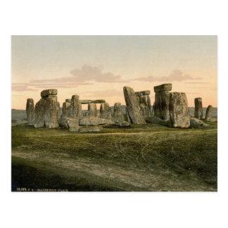 Stonehenge, WILTSHIRE, Angleterre c.1895 Carte Postale