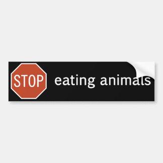 STOP-EATING-ANIMALS AUTOCOLLANT POUR VOITURE