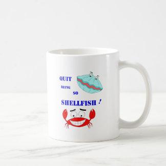 Stoppé être ainsi mollusques et crustacés ! mug