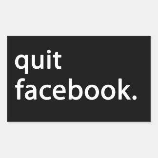 Stoppez Facebook Autocollant Rectangulaire
