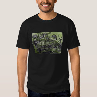 Stormtroops avançant sous le gaz dans WW1 T-shirt
