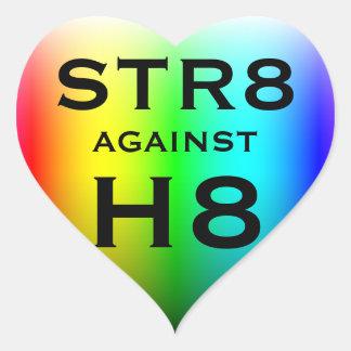 STR8 CONTRE H8 STICKER CŒUR