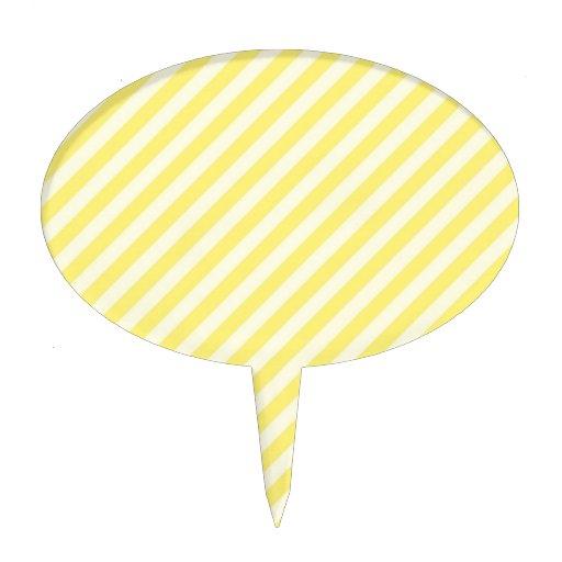 [STR-YE-01] Sucre de canne jaune barré Piques À Gâteau