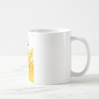 street art painting yellow mug