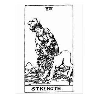 strength de tarot ' cartes postales