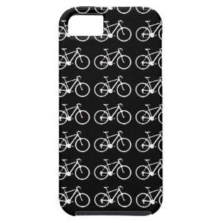 structuration noire et blanche de bicyclettes coque tough iPhone 5