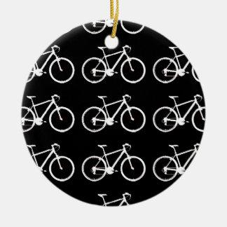 structuration noire et blanche de bicyclettes ornement rond en céramique