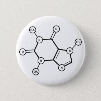 structure moléculaire de caféine badge