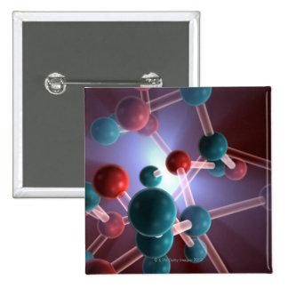 Structure moléculaire de caféine badges