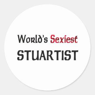 Stuartist le plus sexy du monde adhésifs ronds