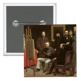Studio chez Batignolles, 1870 Badges Avec Agrafe